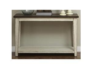 Liberty Furniture Lancaster Sofa Table in Weathered Bark w/White