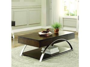 Homelegance Tioga Cocktail Table w/Lift Top & Storage in Espresso