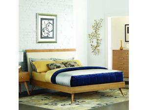 Homelegance Anika Platform Bed in Light Ash - Queen