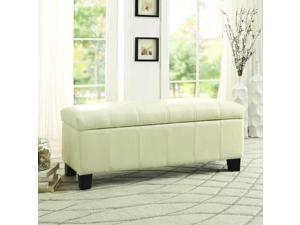 Homelegance Clair Lift Top Storage Bench in Taupe