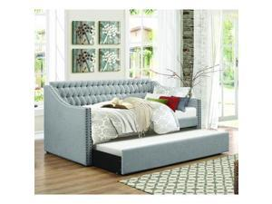 Homelegance Tulney Daybed w/Trundle in Grey