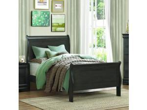 Homelegance Mayville Sleigh Bed in Stained Grey - Twin