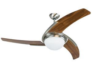 """54"""" Ceiling Fan with Blades Included - Stainless Steel"""