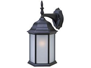 Acclaim Lighting 5181BW Burled Walnut / Clear Beveled Glass Craftsman 1 Light Outdoor Wall Sconce