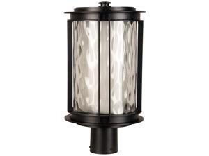 1 Light Post Mount - Oiled Bronze