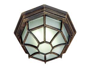 Trans Globe Lighting 40581 BK Black Single Light Down Lighting Flush Mount Ceiling Fixture from the Outdoor Collection