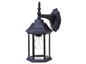 Acclaim Lighting 5182BBK Matte Black Clear Beveled Glass Craftsman 2 1 Light 13 Height Outdoor Wall Sconce