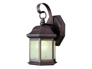 Trans Globe Lighting 4870 WB Weathered Bronze Single Light Up Lighting Outdoor Small Hexagon Wall Sconce from the Outdo