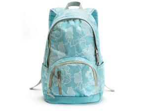 TGLOE Blue Floral Pattern 30*46*20cm Oxford Cloth Durable And Multifunctional Outdoors School Travel Laptop Backpacks