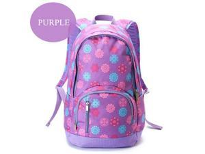 TGOLE Purplr Floral Pattern 30*46*20cm Oxford Cloth Durable And Multifunctional Outdoors School Travel Laptop Backpacks