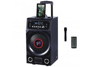 QFX PBX-3010BT Portable Battery Powered Bluetooth PA Speaker With FM Radio/USB/SD (Black)