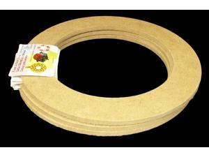 "3 Pack, 9"" Biodegradable Floral Craft Ring, Ez Glueable Wreath / Laurel Form, for Photo Frame, Candle Ring, Etc"