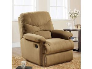 1PerfectChoice Arcadia Furniture Comfort Plush Recliner Chair Lazy Boy Light Brown Microfiber