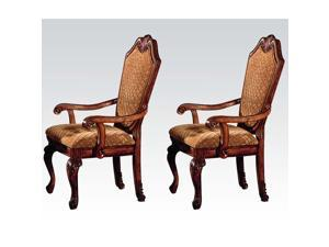 1PerfectChoice Chateau De Ville Arm Chair in Cherry 2 Piece Arm Chairs Dining room Chairs NEW