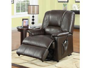1PerfectChoice Reseda Comfort Recliner Chair Lazy Boy Power Lift Wall Hugger Massage Brown PU