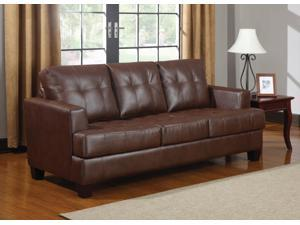 1PerfectChoice Samuel Dark Brown Stationary Sofa Sleeper