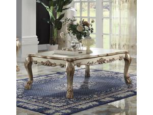 1PerfectChoice Dresden Gold Patina Coffee Table
