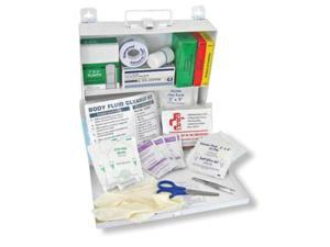 North By Honeywell All In One CPR And Body Fluid Clean Up Kit In Steel Box