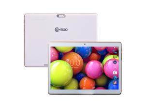 """Contixo 9.6"""" Quad Core Android 4.4 Tablet, IPS 1280x800 Display, Built-in Bluetooth, GPS, FM Radio, Dual Camera, Unlocked GSM, w/ Dual SIM Card Slot, 2G/3G Phablet, Google Play Pre-installed"""