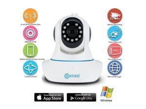 Contixo 720P Wifi Wireless Camera With Remote Video, IP Home Security Surveillance Camera, Night Vision