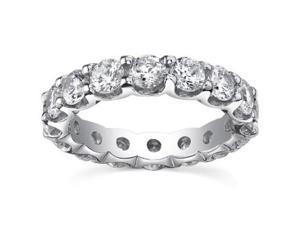 4.00 ct Ladies Round Cut Diamond Eternity Wedding Band Ring in 18 kt White Gold