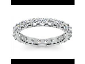 2.00 ct Ladies Round Cut Diamond Comfort Fit Wedding Band in 14 kt White Gold