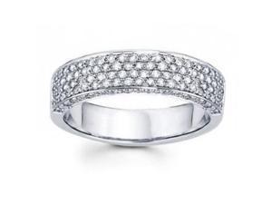 2.00 CT Ladies Three Row Diamond Anniversary Ring in 14 kt White Gold