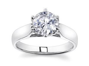 0.75 Ct Ladies Round Cut Diamond Engagement Ring  in Platinum