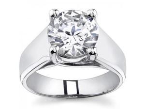 0.73 Ct Ladies Round Cut Diamond Engagement Ring  in 14 kt White Gold