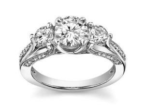 2.25 ct Ladies One Of A Kind Diamond Engagement Ring  in 18 kt White Gold