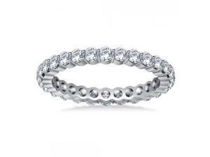 2.00 ct Ladies Round Cut Diamond Eternity Wedding Band in 18 kt White Gold