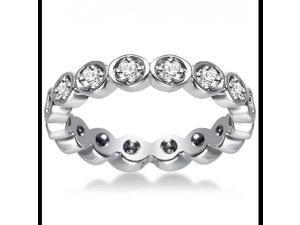0.75 ct Women's Diamond Eternity Band Ring  in 18 kt White Gold