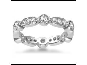 0.75 ct Ladies Brilliant Cut Diamond Eternity Wedding Band  in 14 kt White Gold