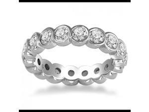 2.00 ct Round Cut Diamond Eternity Wedding Band Ring in Platinum