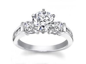 1.25 ct Ladies Round Cut Diamond Engagement Ring in 18 kt White Gold