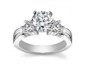 1.25 ct Women's Round Cut Diamond Engagement Ring in White Gold in Platinum