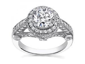 2.25 ct Women's Antique Style Diamond Engagement Ringin 14 kt White Gold