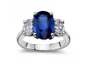 9.45 ct Oval Shape Sapphire And Diamond Engagement Ring in Platinum