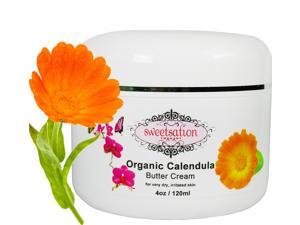 Organic Calendula Baby Butter Cream for dry, irritated skin, eczema, soothing and healing 4oz