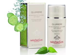 Q*Lumiere Bio-Restorative Organic Cucumber Day Creme with Silk Proteins, Enzymes and Co Q10, 2oz