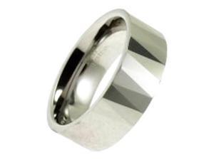 Laser Cut Design Band Ring In Tungsten