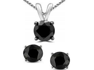 Genuine 5.25 Cttw Black Spinel Set In Sterling Silver