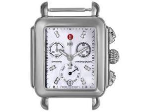 MICHELE  Deco Diamond Dial-Accented Stainless Steel Watch Head MW06P00A0046