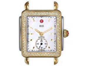 MICHELE Deco 16 Analog Display Swiss Quartz Two Tone Watch Head MW06V01C5025
