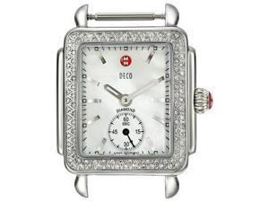 MICHELE Watch Case Deco Diamond-Accented Stainless Steel Watch Head MW06V01A1025