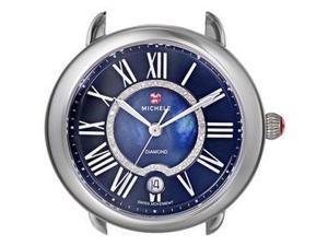 Michele Serein 16 0.11 Ctw Diamonds Black Dial Swiss Quartz Watch Head MW21B00A0965