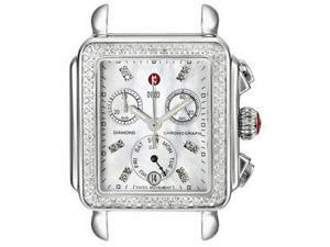 MICHELE Deco Diamond Dial-Accented Stainless Steel Watch Head MW06P01A1046