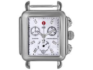 MICHELE  Deco Diamond Dial-Accented Stainless Steel Watch Head MW06P00A0046. ONLY TWO LEFT IN STOCK