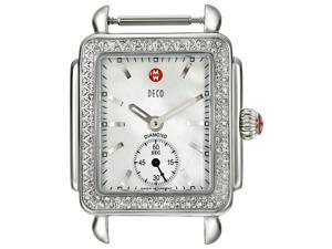 MICHELE Watch Case Deco Diamond-Accented Stainless Steel Watch Head MW06V01A1025. ONLY ONE LEFT IN STOCK