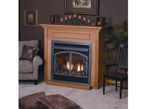 Standard Cabinet Mantel EMBF1SW with Base - White